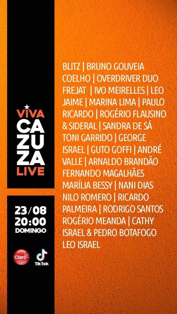 VIVA Cazuza Live line up